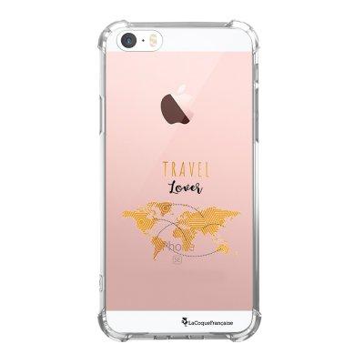 Coque iPhone 5/5S/SE anti-choc souple avec angles renforcés transparente Tour Eiffel Art Déco Tendance La Coque Francaise...