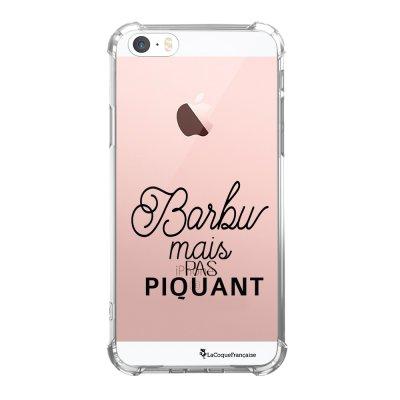 Coque iPhone 5/5S/SE anti-choc souple avec angles renforcés transparente Barbu mais pas piquant Tendance La Coque Francaise...