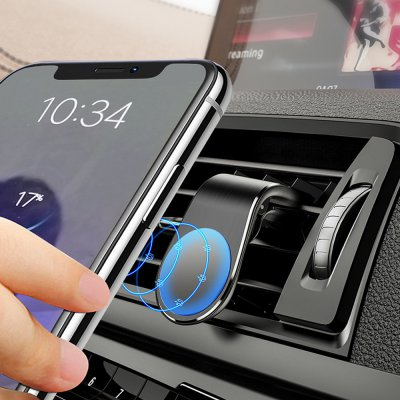 Support voiture magnétique universel grille d'aération-Noir