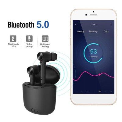 Ecouteurs Bluetooth intra-auriculaires sans fil Noir