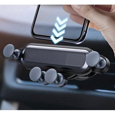 Support Voiture iPhone 11  rétractable sur grille d'aération Noir