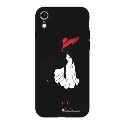 Coque iPhone Xr Silicone Liquide Douce noir Parisienne Sinon Rien Ecriture Tendance et Design La Coque Francaise