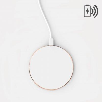 Chargeur induction blanc avec contour gold