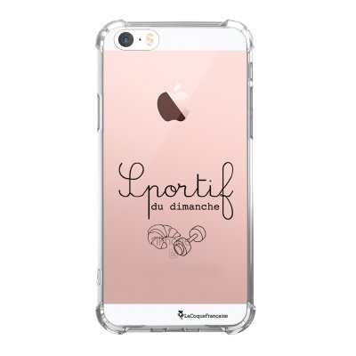 Coque iPhone 5/5S/SE anti-choc souple avec angles renforcés transparente Sportif du dimanche Tendance La Coque Francaise...