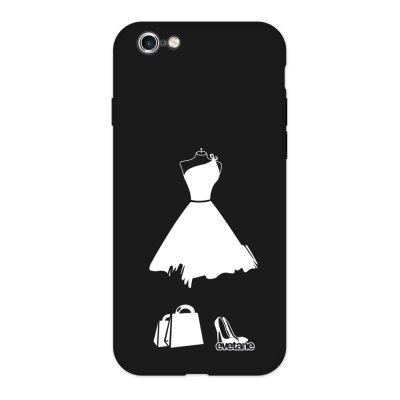 Coque iPhone 6/6S Silicone Liquide Douce noir My little black dress Ecriture Tendance et Design Evetane