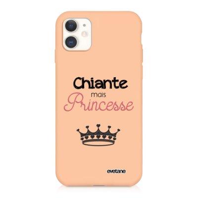 Coque iPhone 11 Silicone Liquide Douce rose pâle Chiante mais princesse Ecriture Tendance et Design Evetane