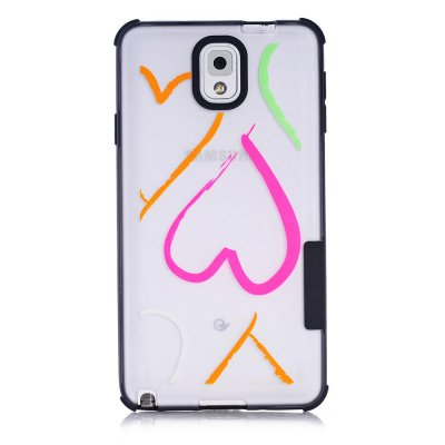 Coque transparente Coeurs phosphorescent Samsung Galaxy Note 3