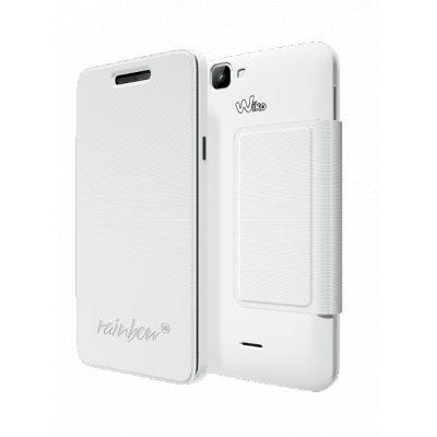 Wiko étui folio slim blanc pour WIKO RAINBOW 4G