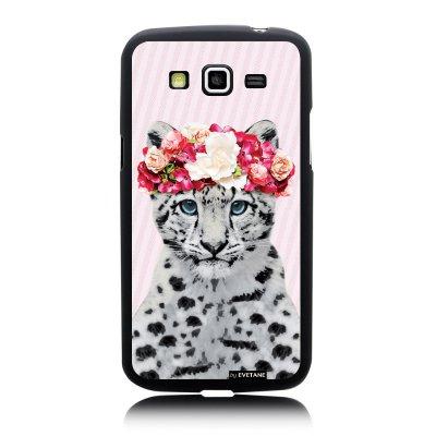 Coque rigide Léopard couronne pour Samsung Galaxy Core Plus