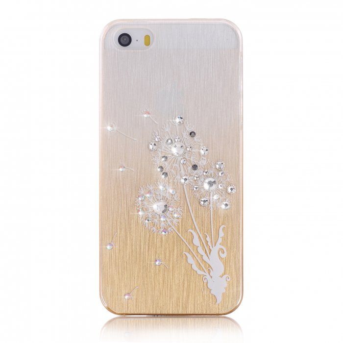 coque fleurs blanches a strass pour apple iphone 55s