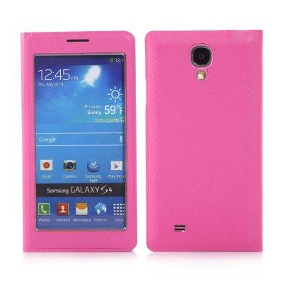 Etui livre fenêtre rose pour Samsung Galaxy S4