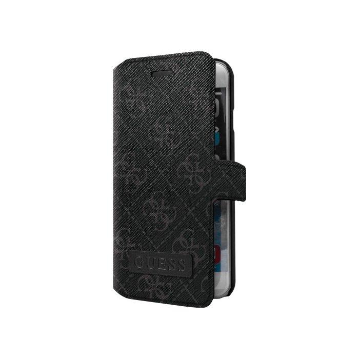 Etui folio Guess noir 4G pour iPhone 6 Plus