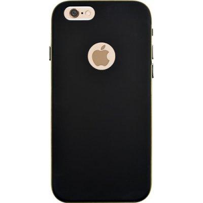 Coque rigide noire et contour doré pour Apple iPhone 6 et 6S