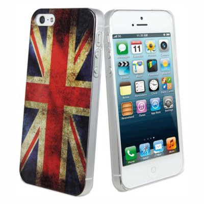 Coque arriere drapeau UK vintage pour Apple iPhone 5/5S