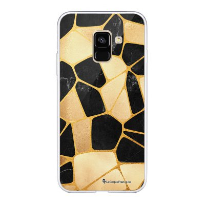 Coque 360 Samsung Galaxy A8 2018 360 intégrale Or Noir Ecriture Tendance Design La Coque Francaise