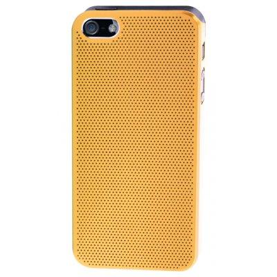 Coque dorée metal perforé pour iPhone 5 / 5S