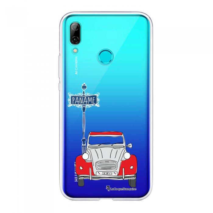 Coque Huawei P Smart 2019 souple transparente 2CV cocorico blanc Motif Ecriture Tendance La Coque Francaise.
