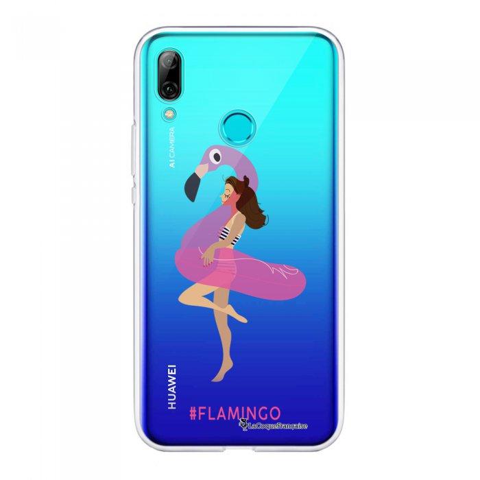 Coque Souple Huawei P Smart 2019 souple transparente Flamingo Motif Ecriture Tendance La Coque Francaise
