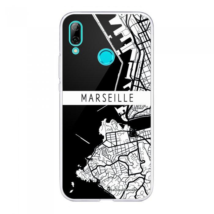 Coque Huawei P Smart 2019 souple transparente Carte de Marseille Motif Ecriture Tendance La Coque Francaise.