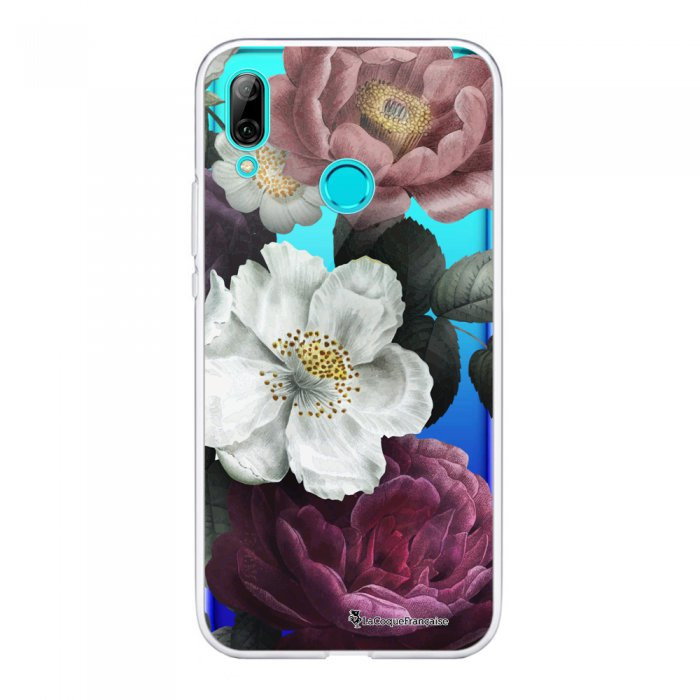 Coque Huawei P Smart 2019 souple transparente Fleurs roses Motif Ecriture Tendance La Coque Francaise.