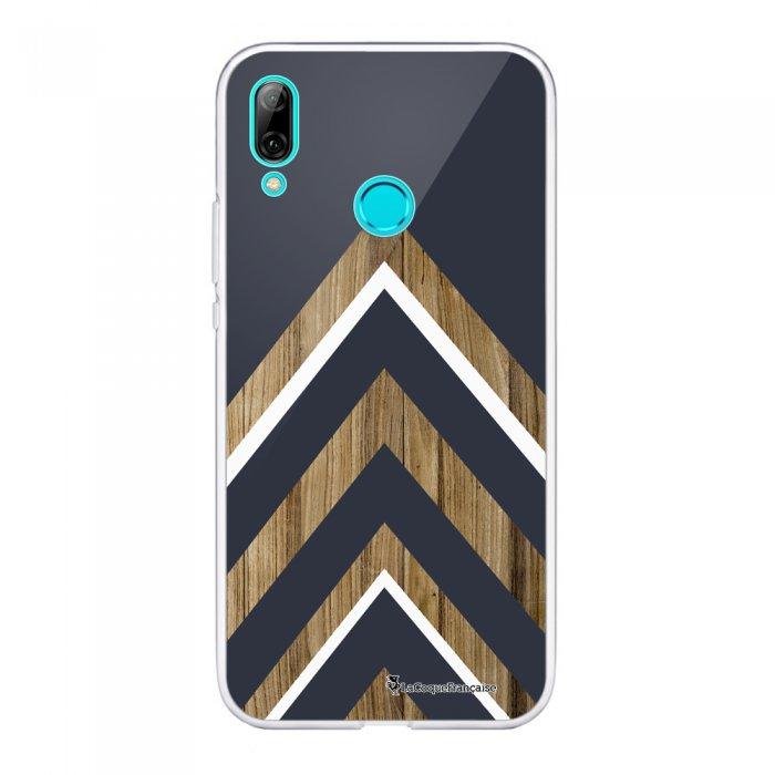 Coque Souple Huawei P Smart 2019 souple transparente Trio bleu marine bois Motif Ecriture Tendance La Coque Francaise