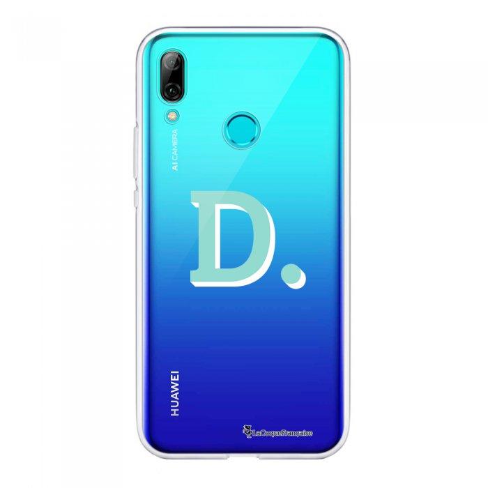 Coque Huawei P Smart 2019 souple transparente Initiale D Motif Ecriture Tendance La Coque Francaise.