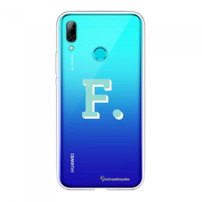 Coque Huawei P Smart 2019 souple transparente Initiale F Motif Ecriture Tendance La Coque Francaise.