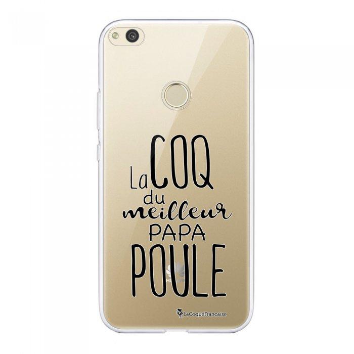 Coque Huawei P8 Lite 2017 souple transparente Meilleur papa poule Motif Ecriture Tendance La Coque Francaise.