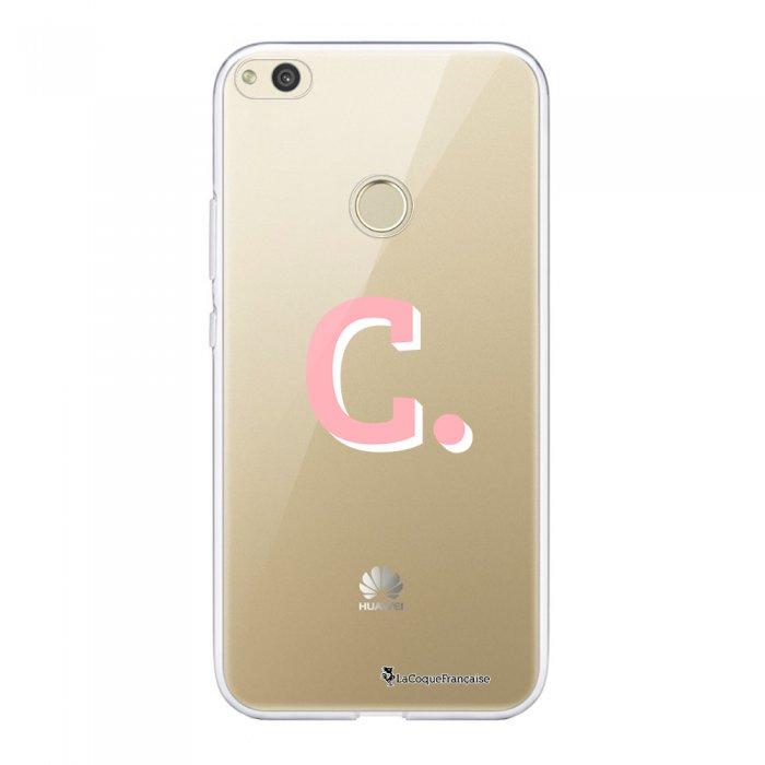 Coque Huawei P8 Lite 2017 souple transparente Initiale C Motif Ecriture Tendance La Coque Francaise.