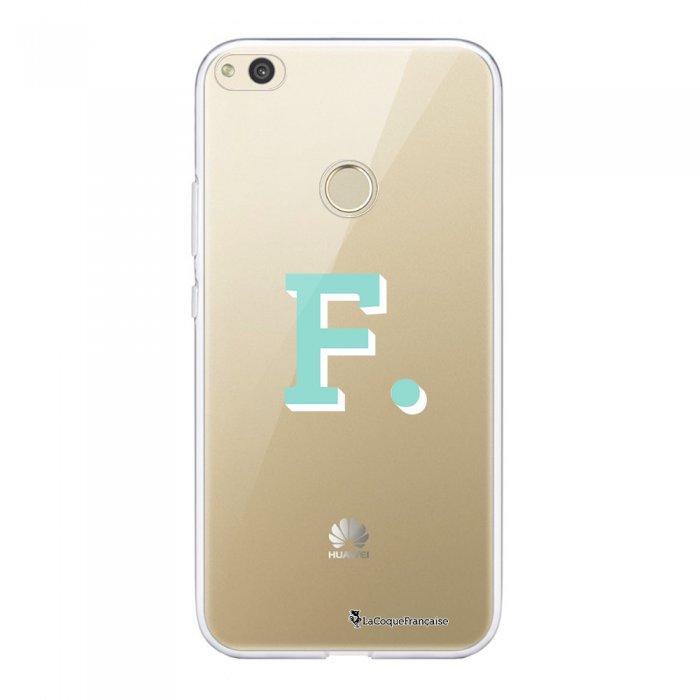 Coque Huawei P8 Lite 2017 souple transparente Initiale F Motif Ecriture Tendance La Coque Francaise.