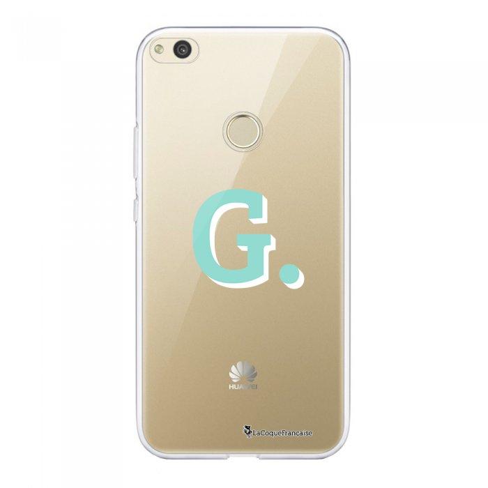 Coque Huawei P8 Lite 2017 souple transparente Initiale G Motif Ecriture Tendance La Coque Francaise.
