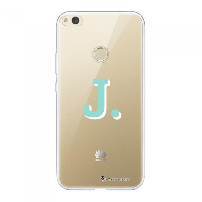 Coque Huawei P8 Lite 2017 souple transparente Initiale J Motif Ecriture Tendance La Coque Francaise.