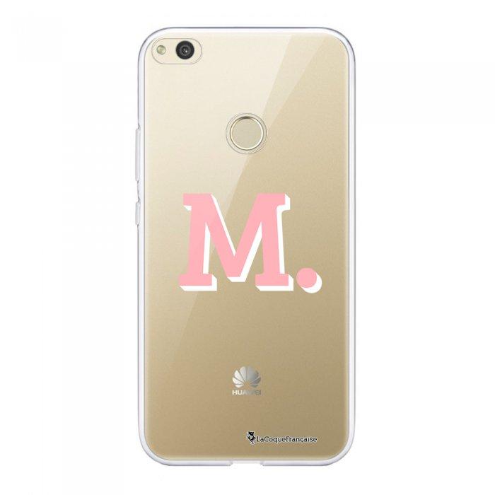 Coque Huawei P8 Lite 2017 souple transparente Initiale M Motif Ecriture Tendance La Coque Francaise.