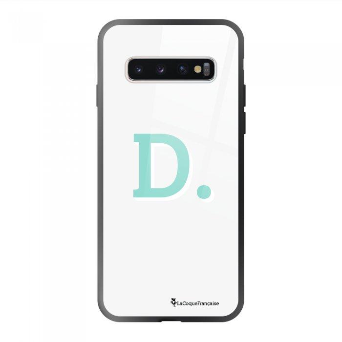 Coque en verre trempé Samsung Galaxy S10 noir Initiale D Ecriture Tendance et Design La Coque Francaise