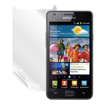 Set de deux films protecteurs Muvit pour Samsung I9100 Galaxy SII