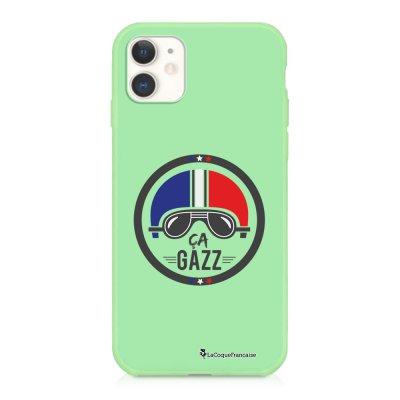 Coque iPhone 11 Silicone Liquide Douce vert pâle Ca gazz Ecriture Tendance et Design La Coque Francaise