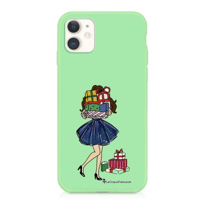 Coque iPhone 11 Silicone Liquide Douce vert pâle Cadeaux de Noel Ecriture Tendance et Design La Coque Francaise