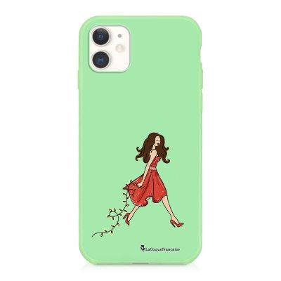 Coque iPhone 11 Silicone Liquide Douce vert pâle Réveillon de Noel Ecriture Tendance et Design La Coque Francaise