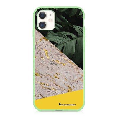 Coque iPhone 11 Silicone Liquide Douce vert pâle Trio Jungle Ecriture Tendance et Design La Coque Francaise