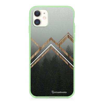Coque iPhone 11 Silicone Liquide Douce vert pâle Trio Forêt Ecriture Tendance et Design La Coque Francaise