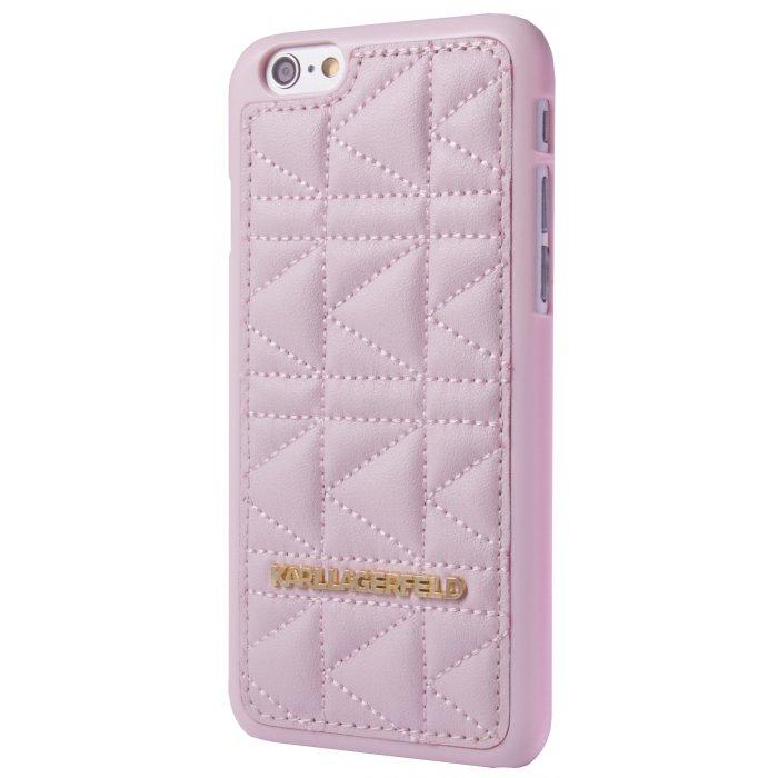 coque de protection de marque karl lagerfeld rose pour iphone 6 6s