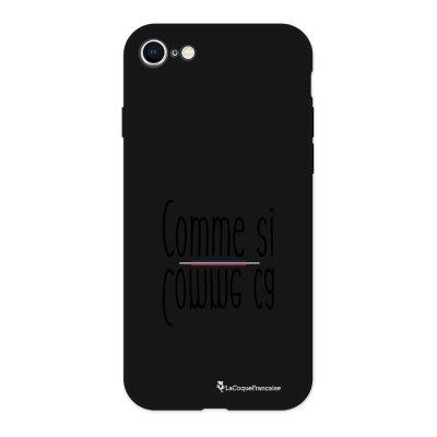 Coque iPhone 7/8 Silicone Liquide Douce noir comme ci comme ca Ecriture Tendance et Design La Coque Francaise