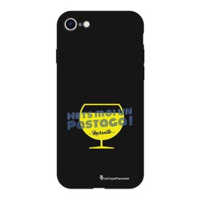 Coque iPhone 7/8 Silicone Liquide Douce noir Pastaga Ecriture Tendance et Design La Coque Francaise