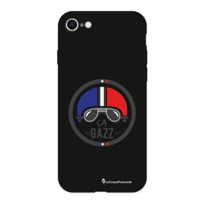 Coque iPhone 7/8 Silicone Liquide Douce noir Ca gazz Ecriture Tendance et Design La Coque Francaise