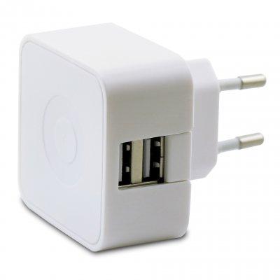 Chargeur secteur Muvit 2 USB 2.4A blanc