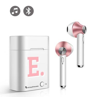 Ecouteurs Sans Fil Bluetooth Rose Gold Initiale E La Coque Francaise