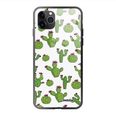 Coque en verre trempé iPhone 11 Pro Cactus Ecriture Tendance et Design Evetane