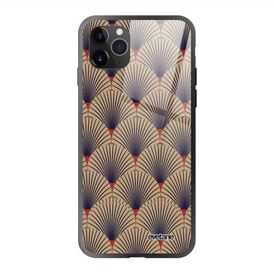 Coque en verre trempé iPhone 11 Pro Max Art déco motifs Ecriture Tendance et Design Evetane