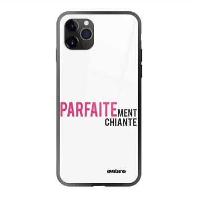 Coque en verre trempé iPhone 11 Pro Max Parfaitement chiante Ecriture Tendance et Design Evetane