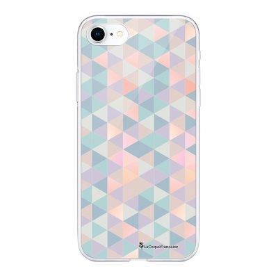 Coque 360 iPhone 7 iPhone 8 360 intégrale transparente Triangles multicolors Ecriture Tendance Design La Coque Francaise